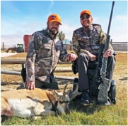 Nick and Neal pose with Neal's beautiful pronghorn buck.
