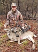 Steven Medberry was able to harvest a nice whitetail buck.